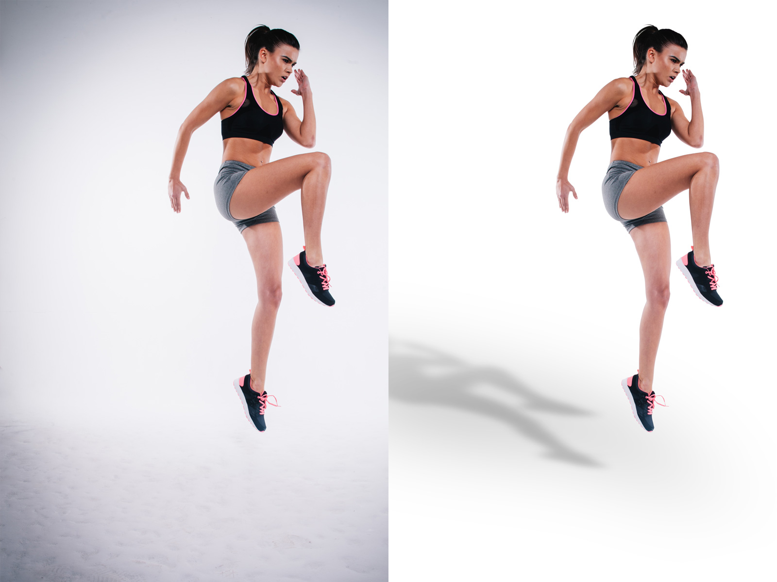 Floating Shadow service by Alpha Clipping Path