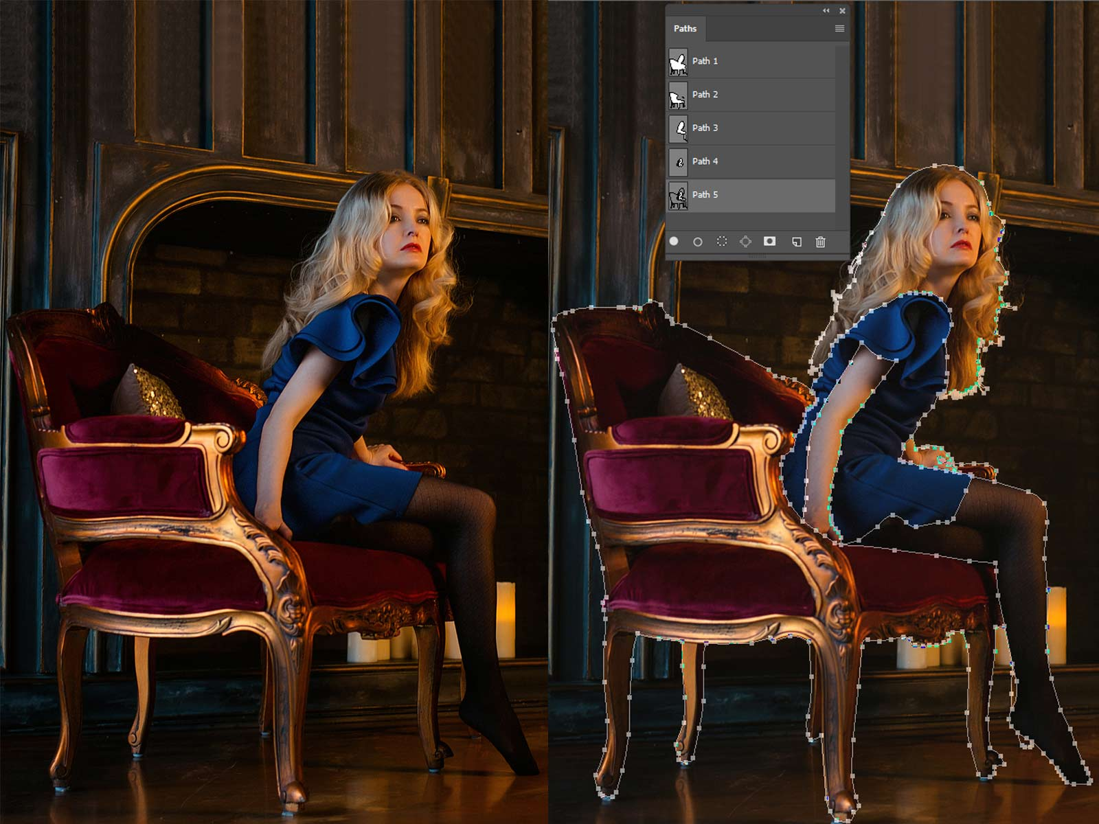 Multi Clipping Path by Alpha Clipping Path